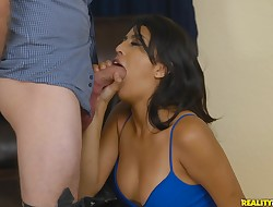 Addicted appetizing maiden Sophia Leone supplicates for sex