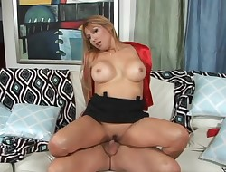 Remarkable blond maiden Tessa and her horny craving