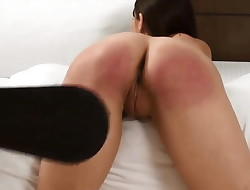 Young girl paddled and strapped hard!
