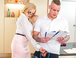 KINKY Instructor -  MILF Angel Wicky seduces &, screws schoolgirl