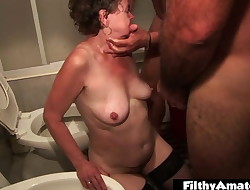 Mature wife submissive and humiliated! Plowed with squirt