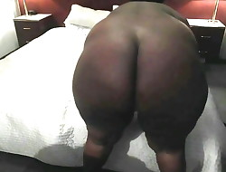 Black BBW Ass And Pussy Spanked